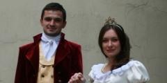 Костюм Е.Онегина и Т.Лариной