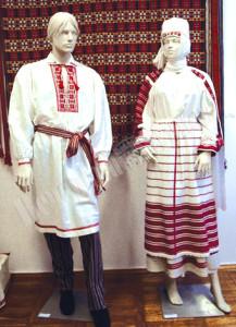 Скарбница, платье, ткачество, лен, вышиванка
