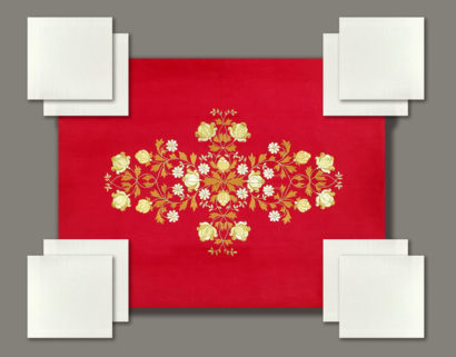 Столовый комплект артикул 11-red-white-1